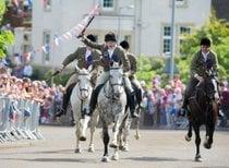 Equitación común en las fronteras escocesas