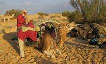 Camping in Tunisian Sahara