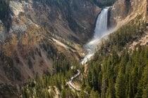 Trois cascades du Grand Canyon de Yellowstone et le sentier de l'oncle Tom