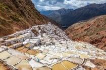 Cosecha de sal en Salinas de Maras