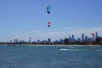 Kitesurfing at St Kilda Beach