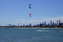 Kitesurfen am St Kilda Beach