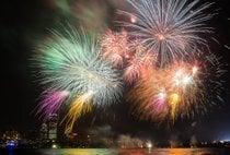 Fuochi d'artificio e sfilata del 4 Luglio