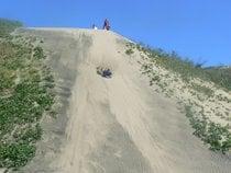 Sandboarding in Sigatoka