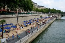 Beaches on the Seine or Paris Plages
