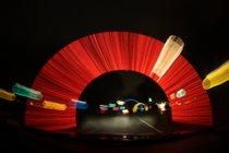 Conduzca a través de parques de luz de Navidad