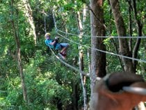 Ziplining on Roatán