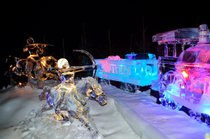 Esculturas de gelo em Zwolle
