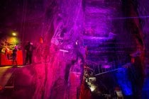 Bounce Below in Llechwedd Caverns
