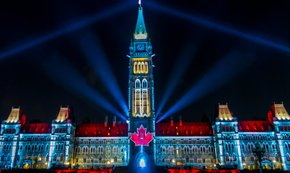 Sound and Light Show on Parliament Hill
