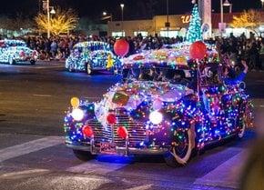 Desfile de luz de brillo en Albuquerque