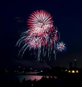 Feuerwerke am Victoria-Tag
