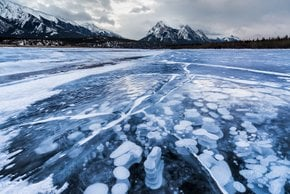 Frozen Abraham Lake