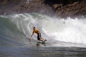 Surfing in West Java