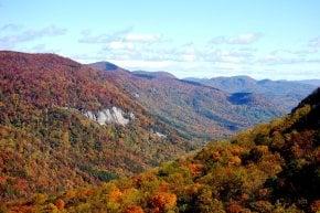 Colores de otoño de Carolina del Sur