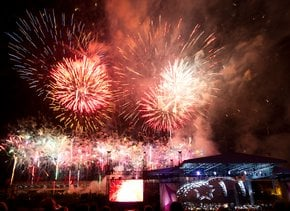 Eventos del 4 de julio y fuegos artificiales en Nashville