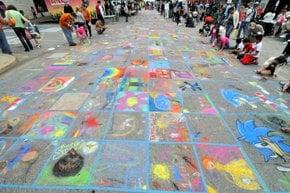 Runde Rock Chalk Walk und Arts Festival