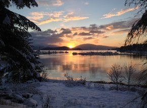 Auke Bay Winter Sonnenuntergang