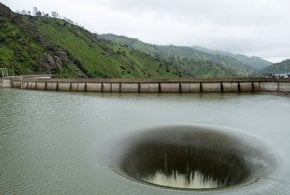 Monticello Dam Morning Glory Spillway
