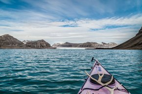Kayaking by Glaciers