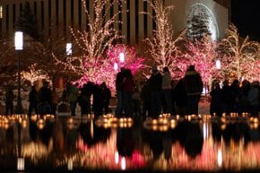 Luci di Natale a Salt Lake City
