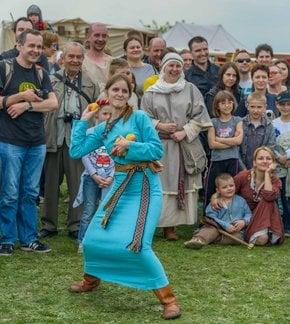 Rękawka (Egg Rolling) Festival on Krakus Mound