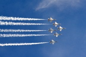 Aile sopra Georgia del Nord Show Aeronautico