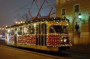 Christmas Tram in Bratislava