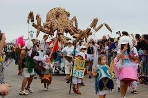 Coney Insel Meerjungfrau Parade
