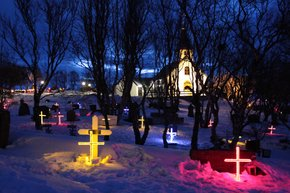 Illuminated Gravestones