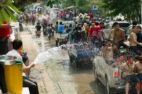 Pi Mai or Songkran—Lao New Year & Water Festival
