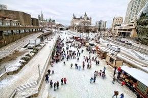 Die Jahreszeit der Rideau-Kanal-Skating-Saison