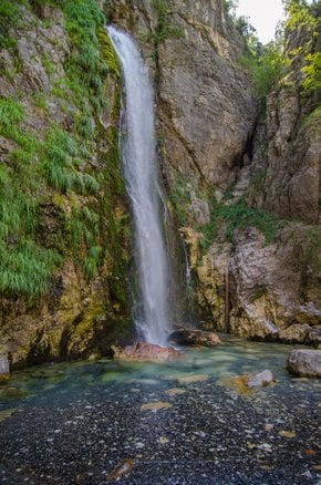 Grunas Waterfall in Theth