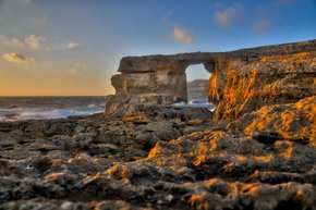 Sonnenuntergang am Azure Window