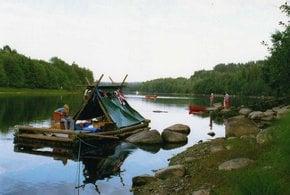 Rafting su tronchi