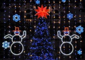 Luzes de Natal em Filadélfia