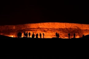 Le porte dell'inferno (Cratere di gas di Darvaza)