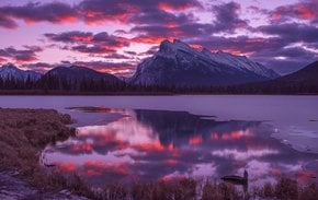 Vermilion Lakes Sunrise & Sunset