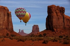 Ballooning over Monument Valley