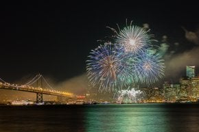 Capodanno Fuochi d'artificio in SF