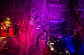 Bounce Below in Llechwedd Caverns