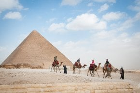 Camel Riding at Giza in Pleasant Weather