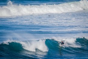 Surfing Off Victoria Coast