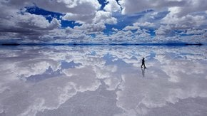 Lake at Salt Flats or Salar de Uyuni