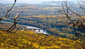 Colores de otoño en Delaware Water Gap