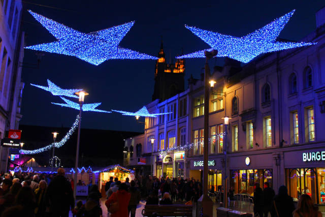 Lights of the Cardiff Christmas Market