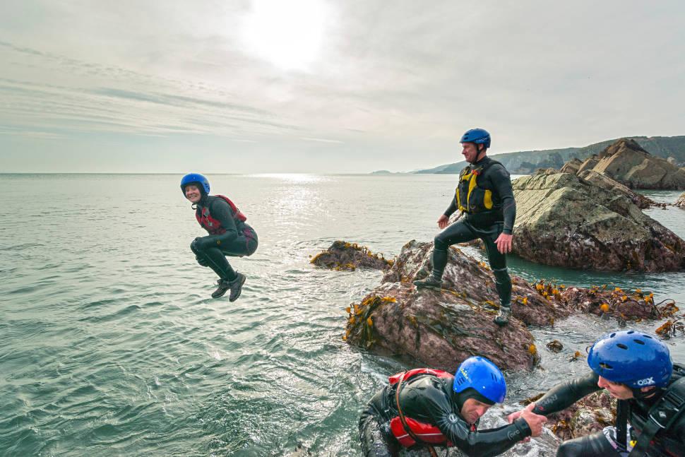 Coasteering in Wales - Best Time