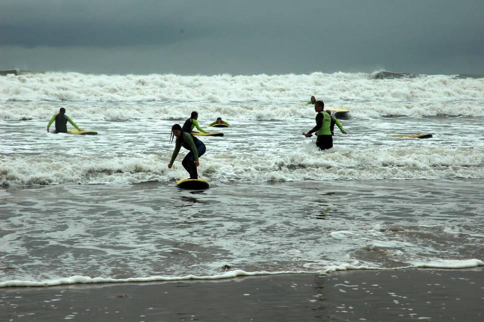 Llangennith surfers