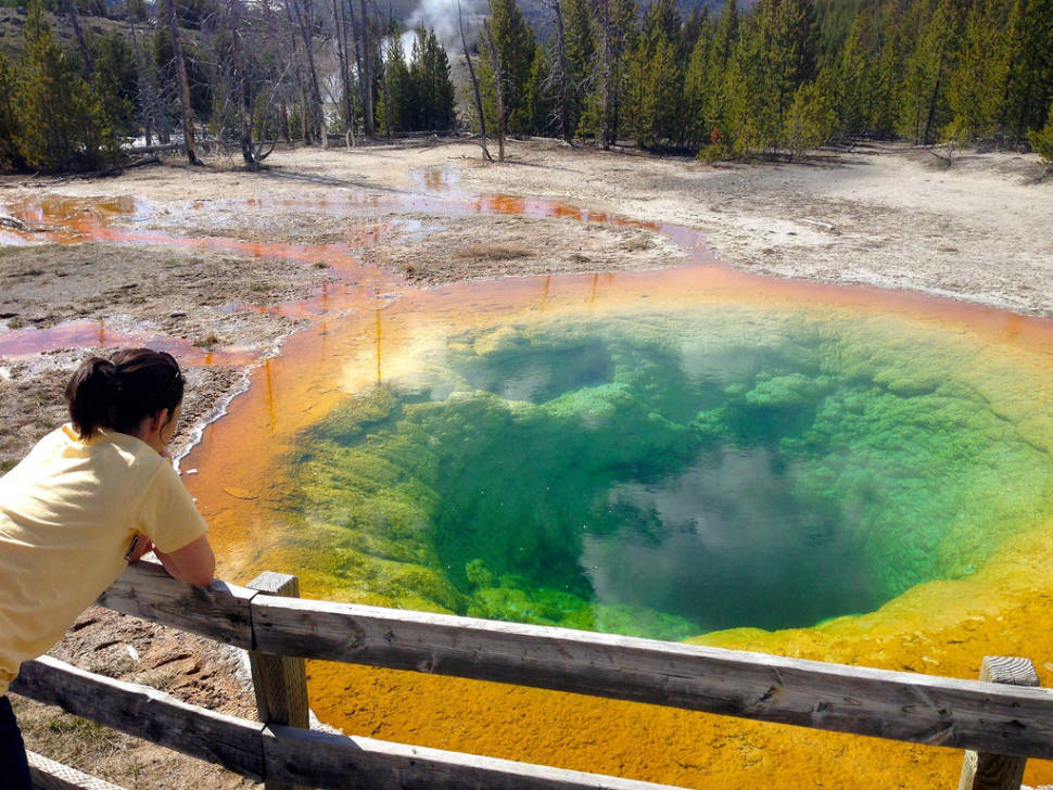 Best time for Morning Glory Pool in Yellowstone National Park
