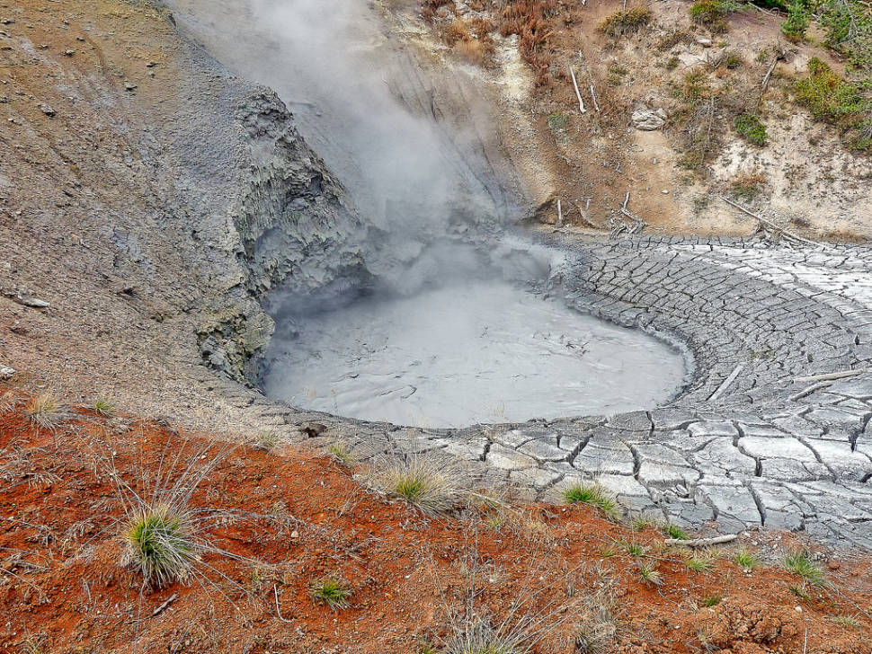 Mud Volcano in Yellowstone National Park - Best Season